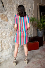 Load image into Gallery viewer, Bright Serape Strappy Flutter Pocket Dress
