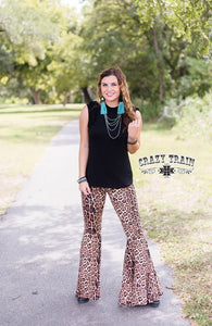 Crazy Train Brazos Bells Leopard Flares