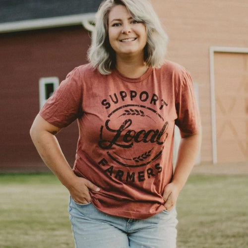 Support Local Farmers Clay Unisex Shirt
