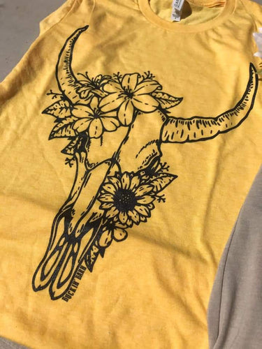 Sunflower Skull Unisex Shirt