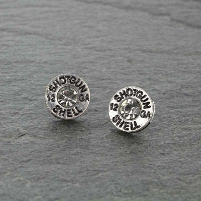Silver Bullet Stone Earrings