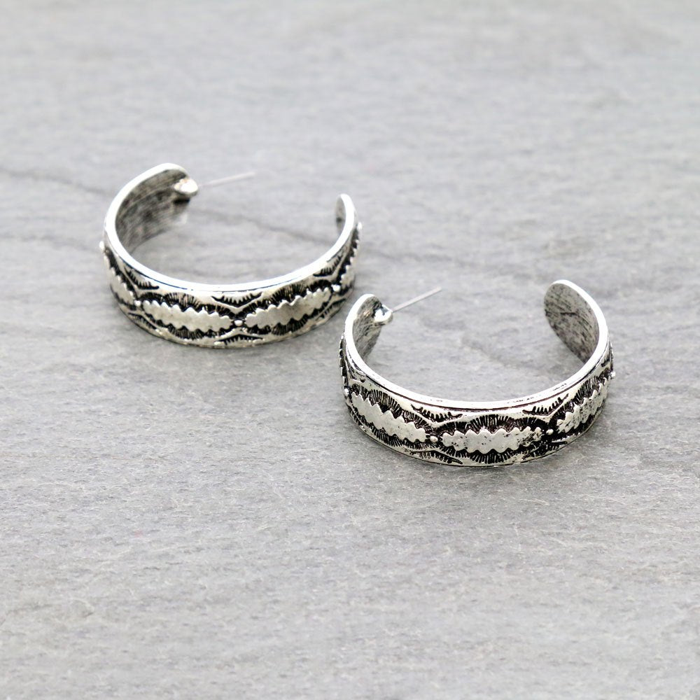Western Chunky Hoop Earrings