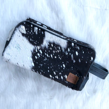 Load image into Gallery viewer, Black Cowhide Travel Case