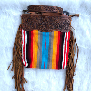 Serape Fringe Crossbody Purse