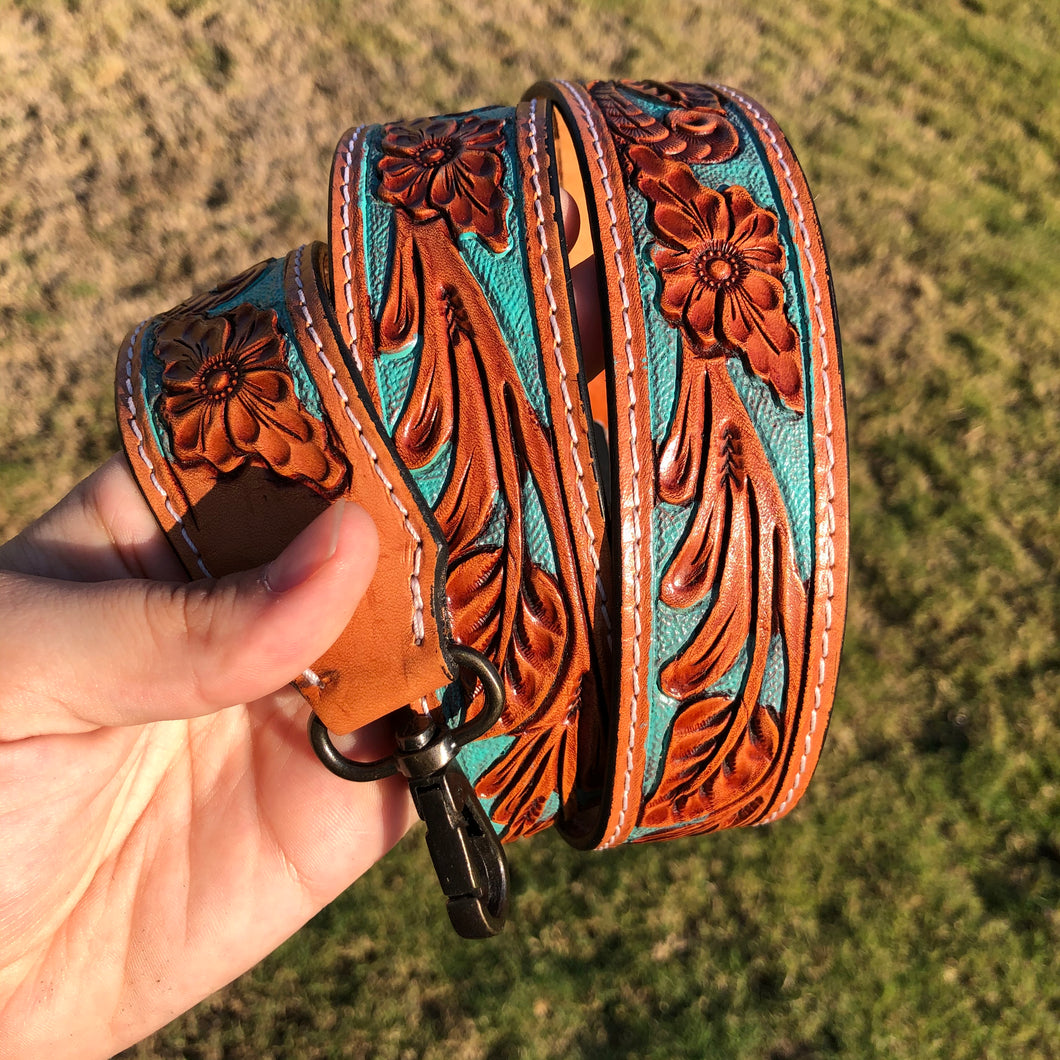 Tooled Purse Strap