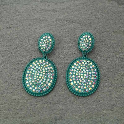 Western Stone Bling Post Earrings
