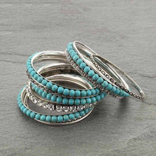 Load image into Gallery viewer, Turquoise Bangle Set