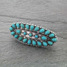 Load image into Gallery viewer, Western Turquoise Hair Barrette