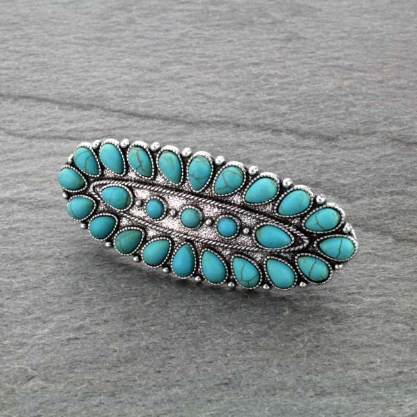 Western Turquoise Hair Barrette