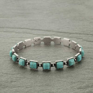 Turquoise Stone Bangle Bracelet