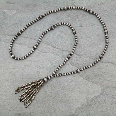 Navajo Pearl Tassel Necklace