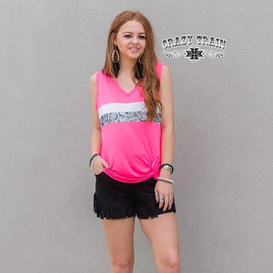 Crazy Train Hot Toddy Tank Top - Hot Pink