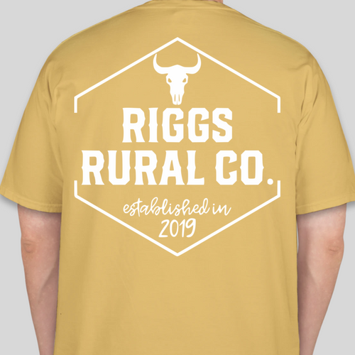 **PRE-ORDER** Riggs Rural Co. Comfort Colors Shirt - Mustard