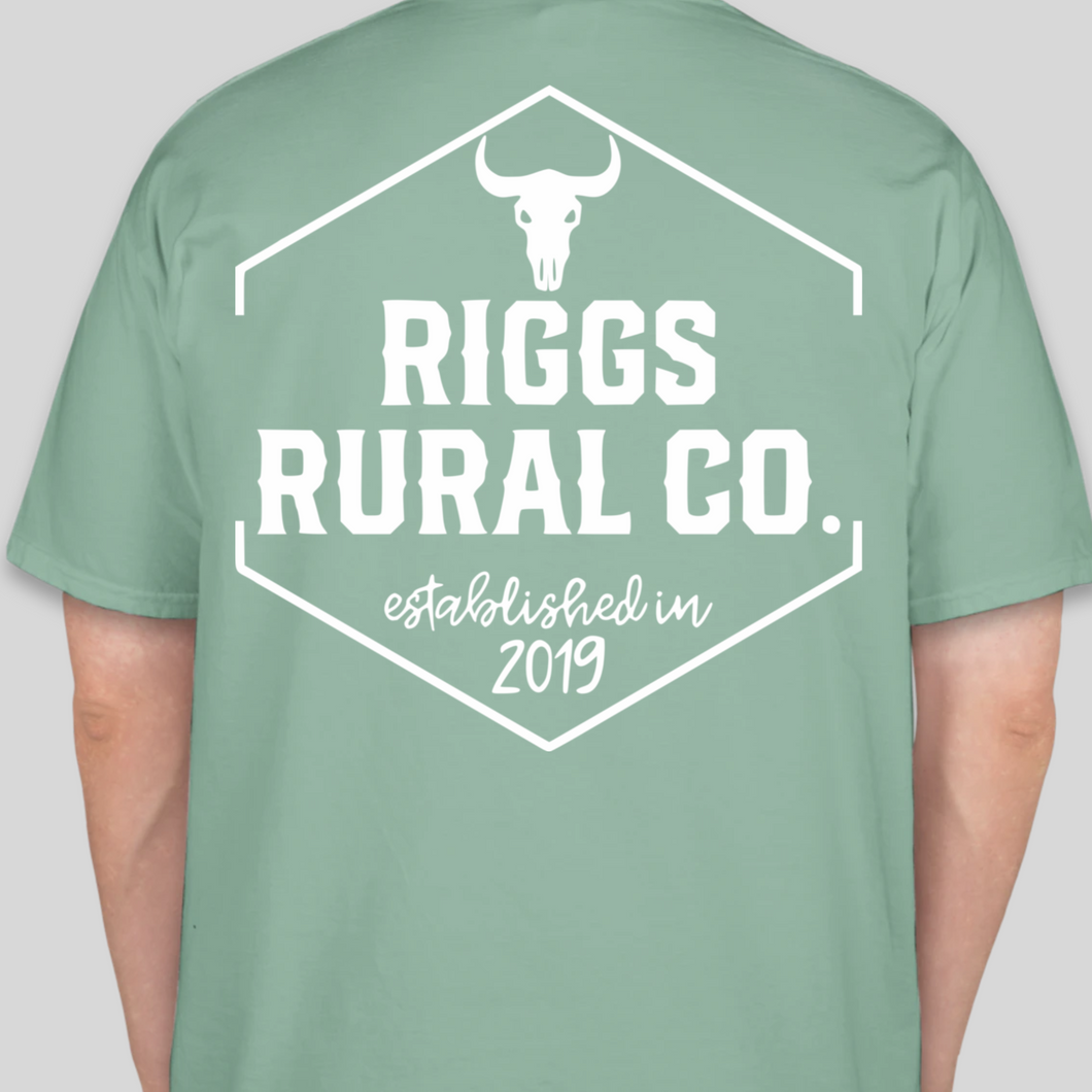 Riggs Rural Co. Comfort Colors Shirt - Seafoam