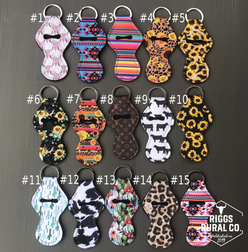 Chapstick Holder Neoprene Keychains
