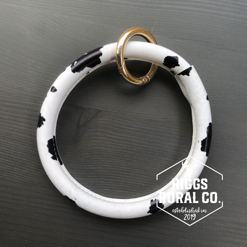 Cow Print Bangle Keychains CLEARANCE