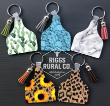 Load image into Gallery viewer, Cattle Cow Ear Tag Keychains
