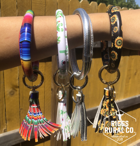 Bangle Keychains With Tassel CLEARANCE