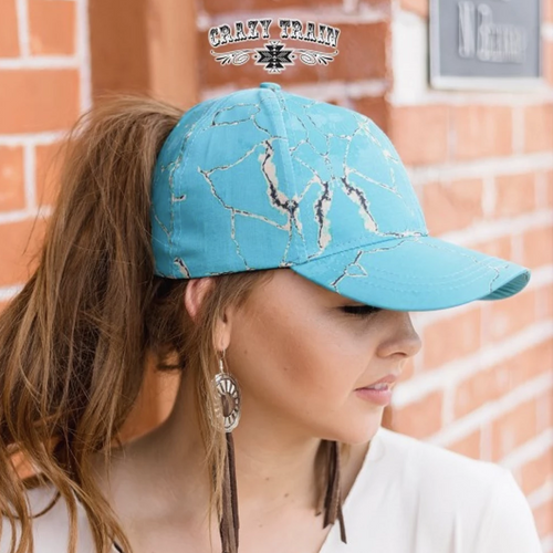 Crazy Train Turquoise Stone Hat CLEARANCE