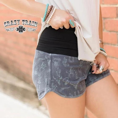 Crazy Train Cuero Board Shorts Cowboy