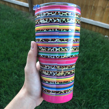 Load image into Gallery viewer, IMPERFECT Serape Leopard Tumbler CLEARANCE