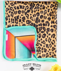 Crazy Train Sweet Nappin' Serape & Leopard - Kid & Adult Blanket