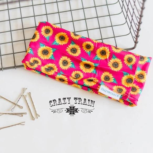 Crazy Train Pink Sunflower Headband