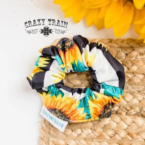 Crazy Train Sunshine & Sunflowers Brady Scrunchie