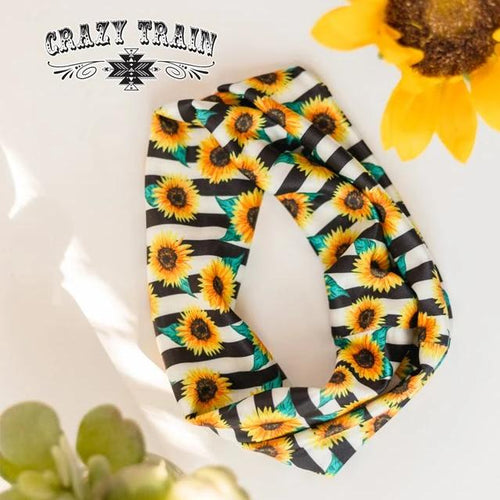 Crazy Train Sunshine & Sunflowers Headband