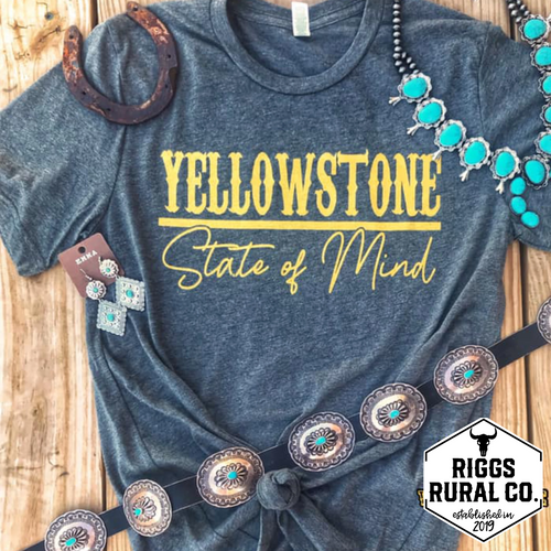 Yellowstone State Of Mind Unisex Shirt