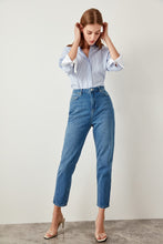 Load image into Gallery viewer, Kourtney High Waisted Mom Jeans - Olyssia™ Online