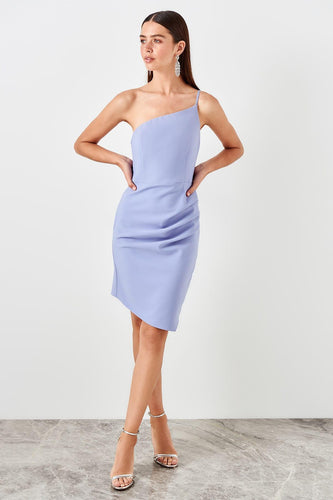Liliana One Shoulder Dress Lilac - Olyssia™ Online