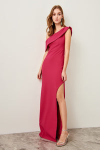 Samantha High Split Evening Gown Dress - Olyssia™ Online
