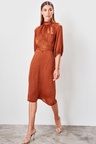 Eleanor Satin Midi Dress - Olyssia™ Online