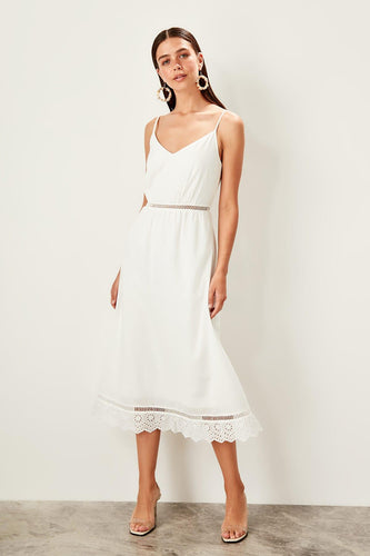 Larissa Summer Dress White - Olyssia™ Online