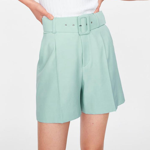 Amelie High Waist Buckle Shorts - Olyssia™ Online