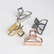 Load image into Gallery viewer, Geometric Metal Hair Clip Gold - Olyssia™ Online