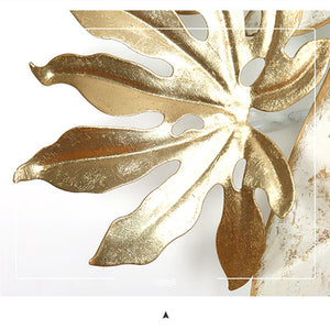 Gold Nordic Leaves Wall Decoration - Olyssia™ Online