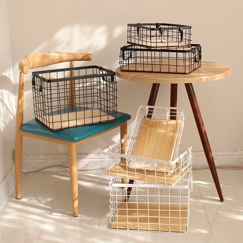 Retro Iron Storage Basket - Olyssia™ Online