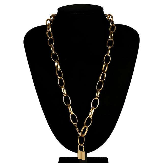 Vintage Lover Lock Pendant Necklace - Olyssia™ Online