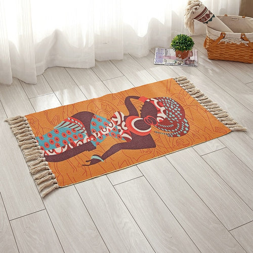 Retro African-inspired Rug - Olyssia™ Online