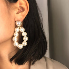 Load image into Gallery viewer, Pearl Water Drop Earrings - Olyssia™ Online