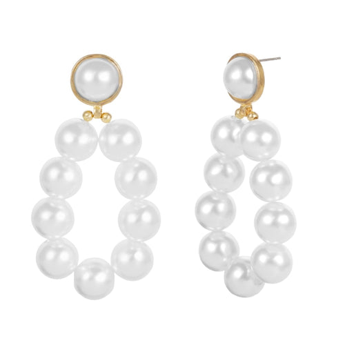 Pearl Water Drop Earrings - Olyssia™ Online