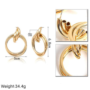 Double Layer Big Circle Earring - Olyssia™ Online