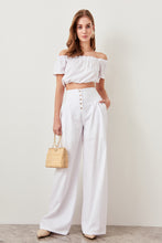 Charger l'image dans la galerie, Rosalie High Waisted Buttoned Wide Leg Pants - Olyssia™ Online