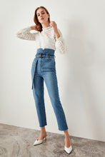 Load image into Gallery viewer, Claire High Waisted Tie Jeans - Olyssia™ Online
