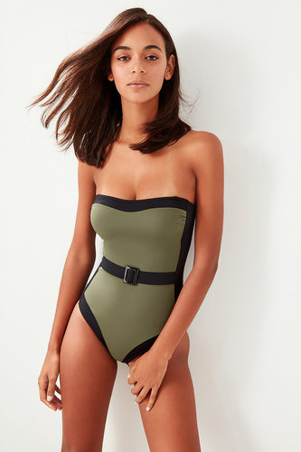 Latina Belted One Piece Swimsuit - Olyssia™ Online