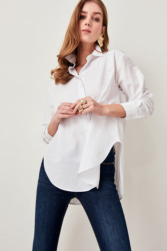 Loisa Loose Fit Shirt White - Olyssia™ Online