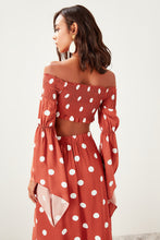 Load image into Gallery viewer, Maya Polka Dot Cropped Blouse - Olyssia™ Online