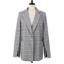 Load image into Gallery viewer, Maeve Plaid Wrap Tie Blazer - Olyssia™ Online